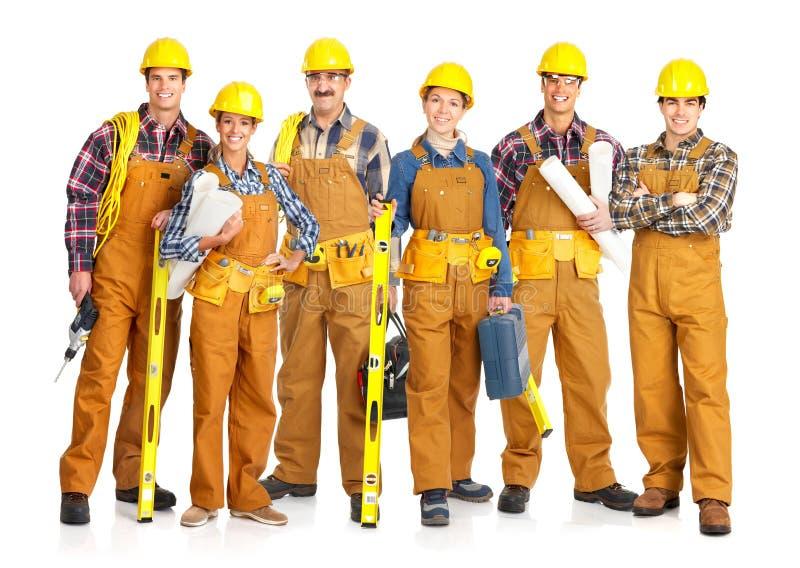 De mensen van de bouwer stock afbeelding