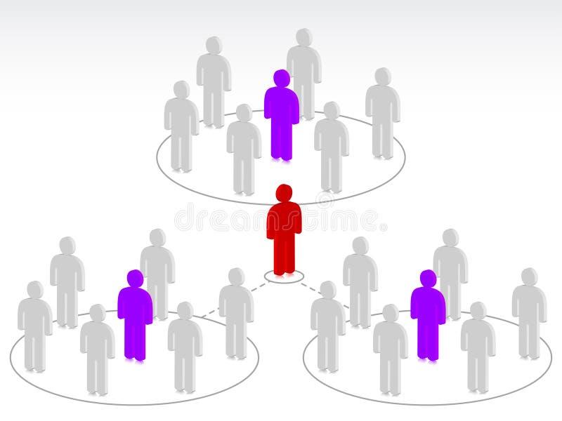 De mensen van de groep met leider stock illustratie