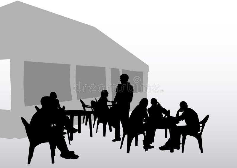 De mensen van de koffie vector illustratie