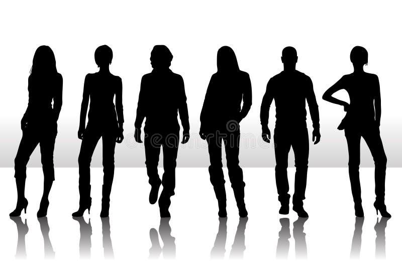 De mensen van de manier vector illustratie