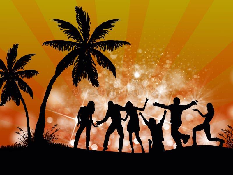 De mensen van de Partij van het strand vector illustratie