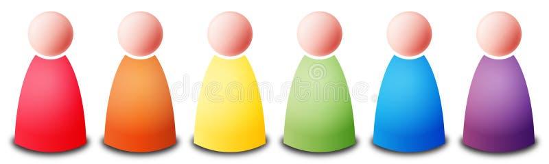 De mensen van de regenboog stock illustratie