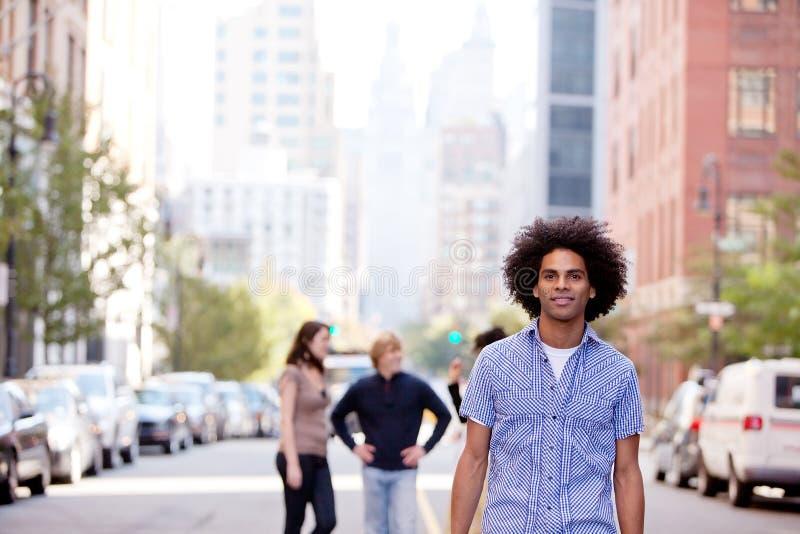 De Mensen van de stad stock foto's