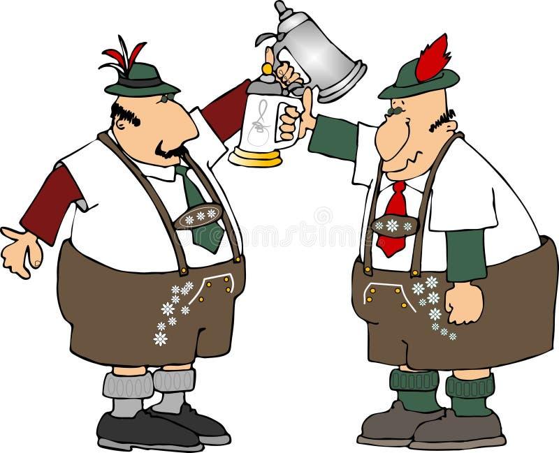 De mensen van de stenen bierkroes vector illustratie