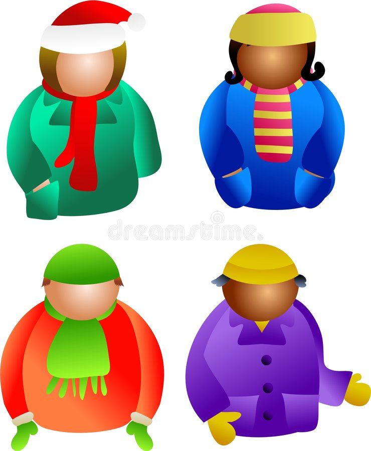 De mensen van de winter royalty-vrije illustratie