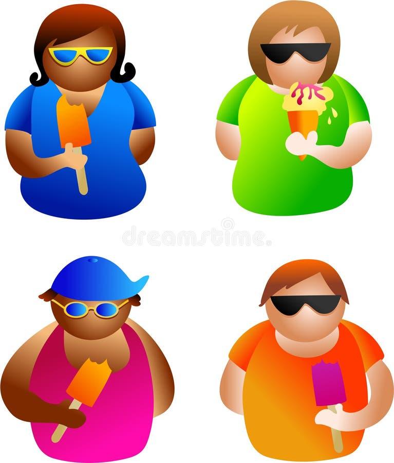 De mensen van de zomer stock illustratie