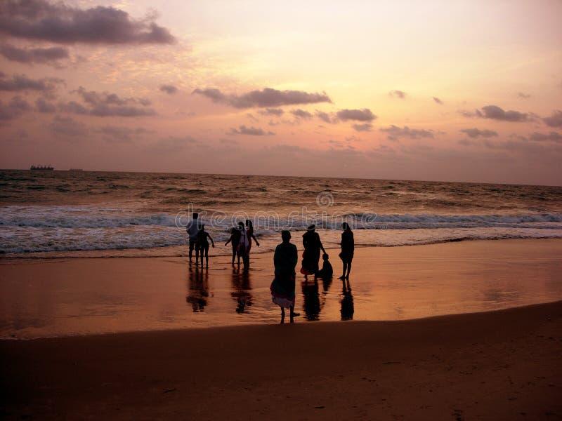 De Mensen van de zonsondergang royalty-vrije stock foto