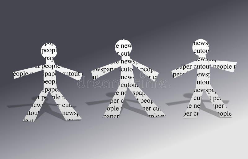 De Mensen van het document vector illustratie