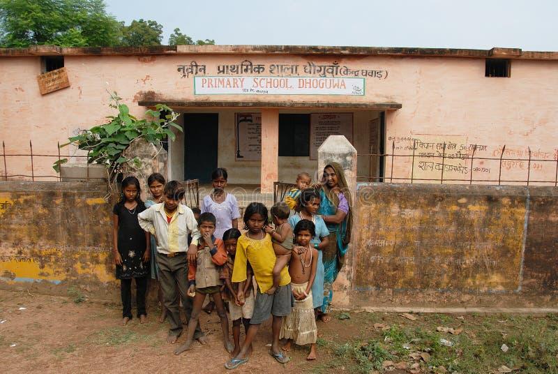 De Mensen van het dorp van Khajuraho royalty-vrije stock afbeelding