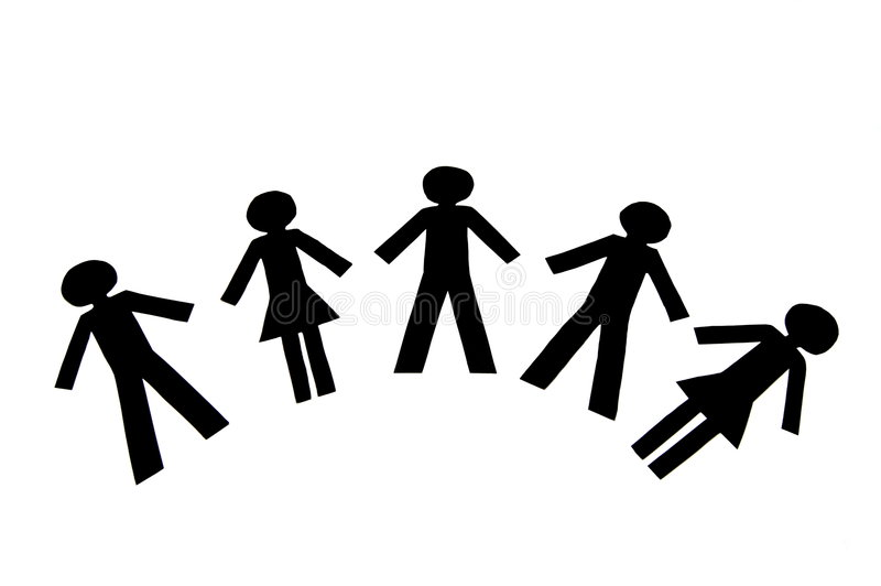 De Mensen van het groepswerk stock illustratie