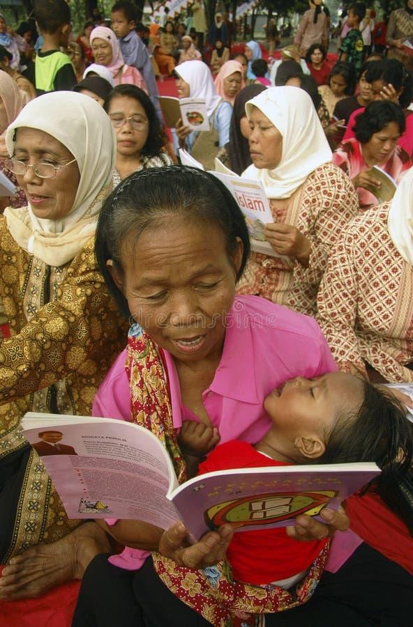 De mensen van INDONESIË stock afbeelding