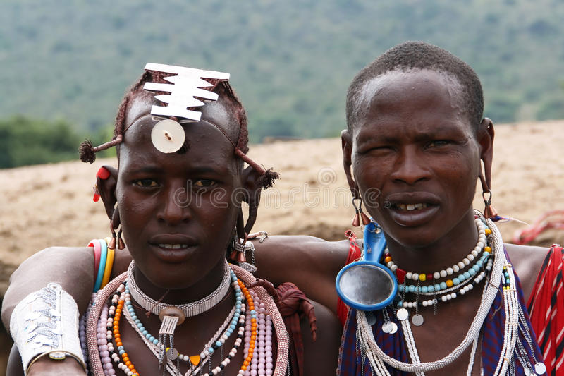 De mensen van Masai stock foto