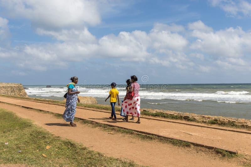 De mensen van Srilankan, Galle-Fort, Sri Lanka royalty-vrije stock afbeelding