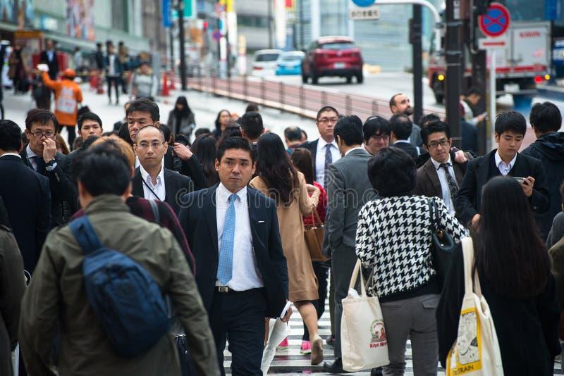 De Mensen van Tokyo Japan, Forenzen, Arbeiders royalty-vrije stock foto