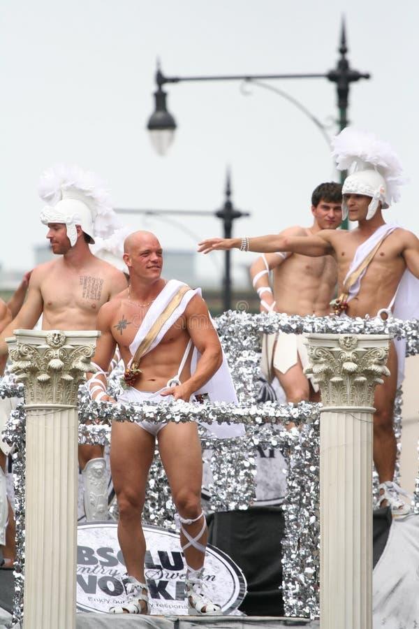 De Mensen Vrolijk Pride Parade van Chicago stock foto's