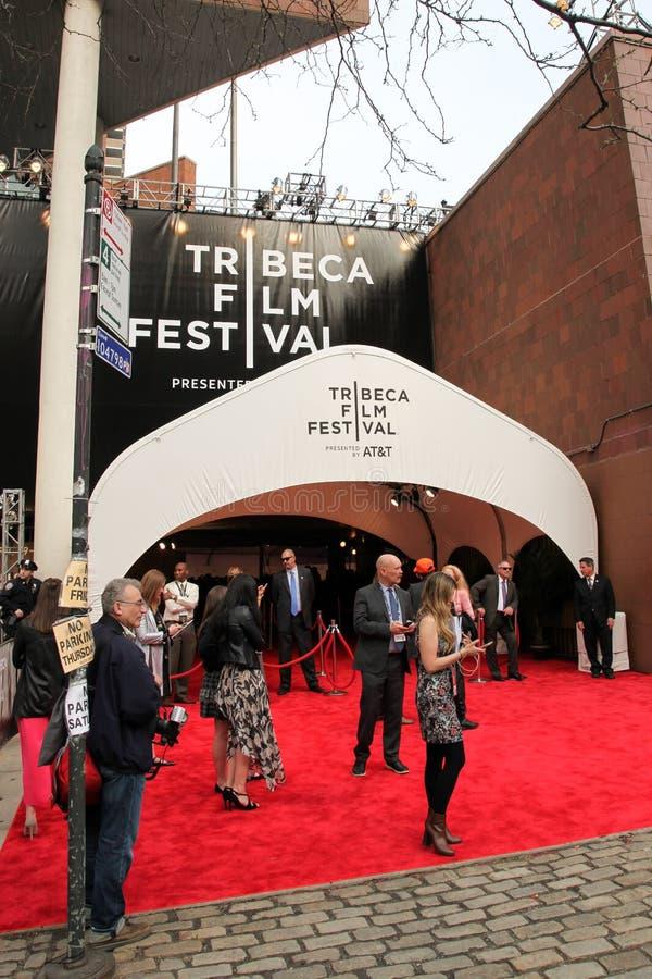 De mensen wonen het van het de Filmfestival van Tribeca van 2017 de première` Genie ` bij royalty-vrije stock foto