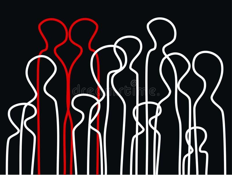 De mensenachtergrond van de vergadering stock illustratie