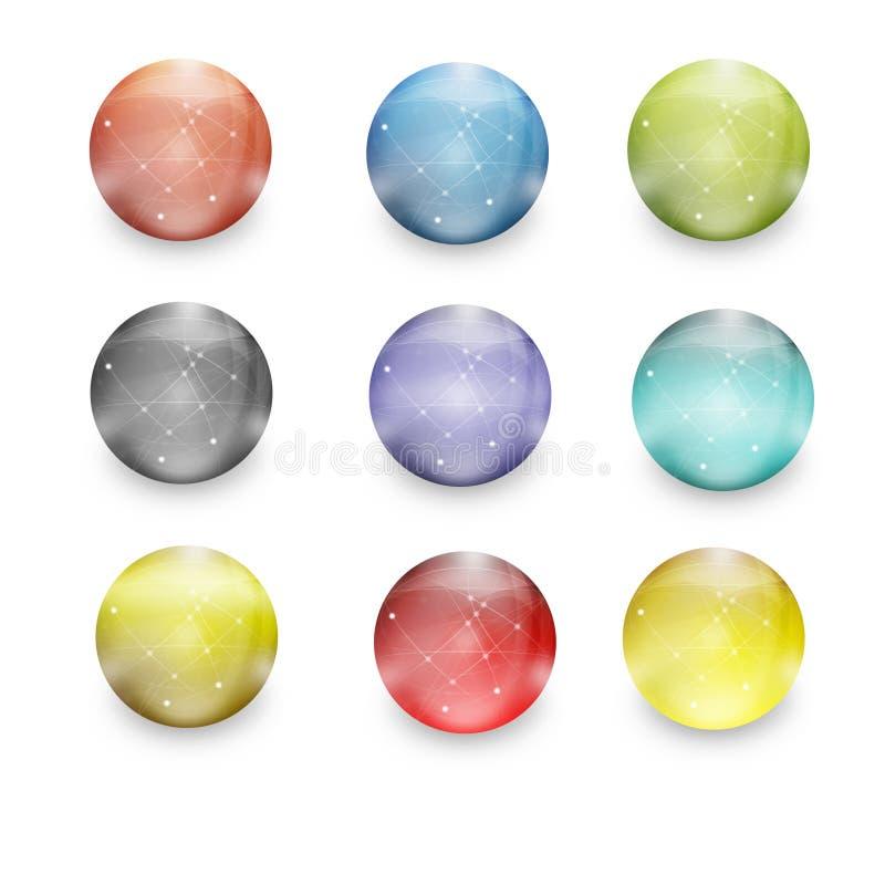 De mensenbollen van de aansluting stock illustratie