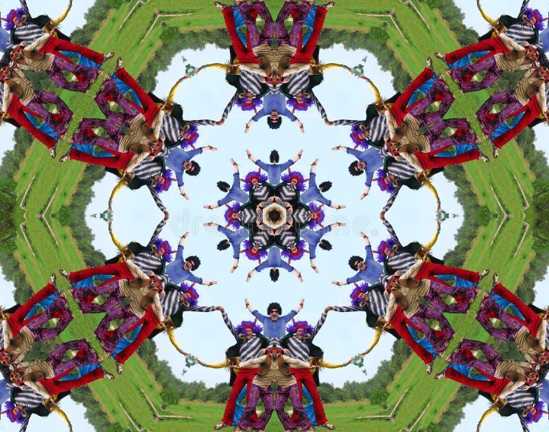 De mensencaleidoscoop van de hippie royalty-vrije illustratie