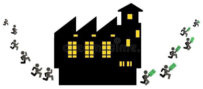 De mensenfabriek verdient Beeldverhaal vector illustratie