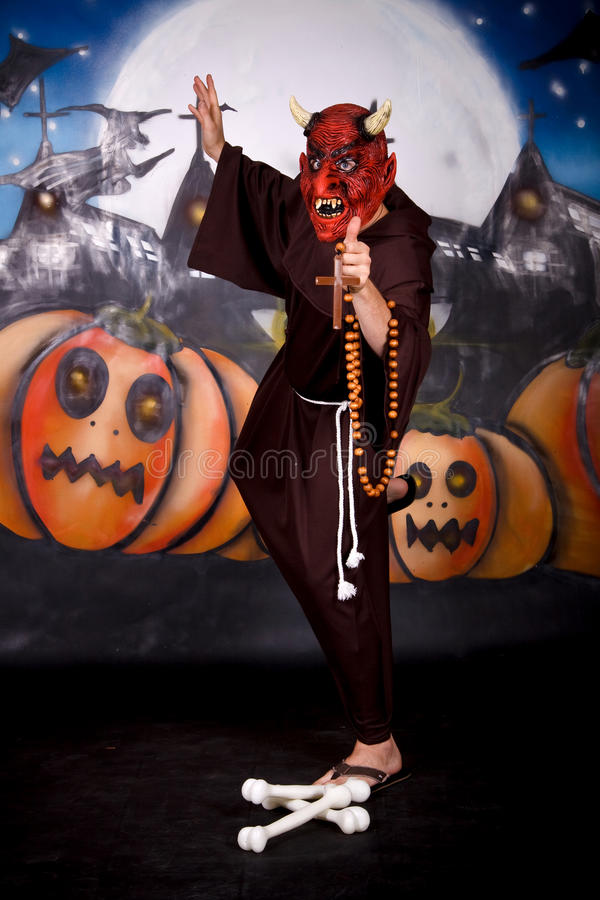 De mensenkarakter van Halloween stock foto