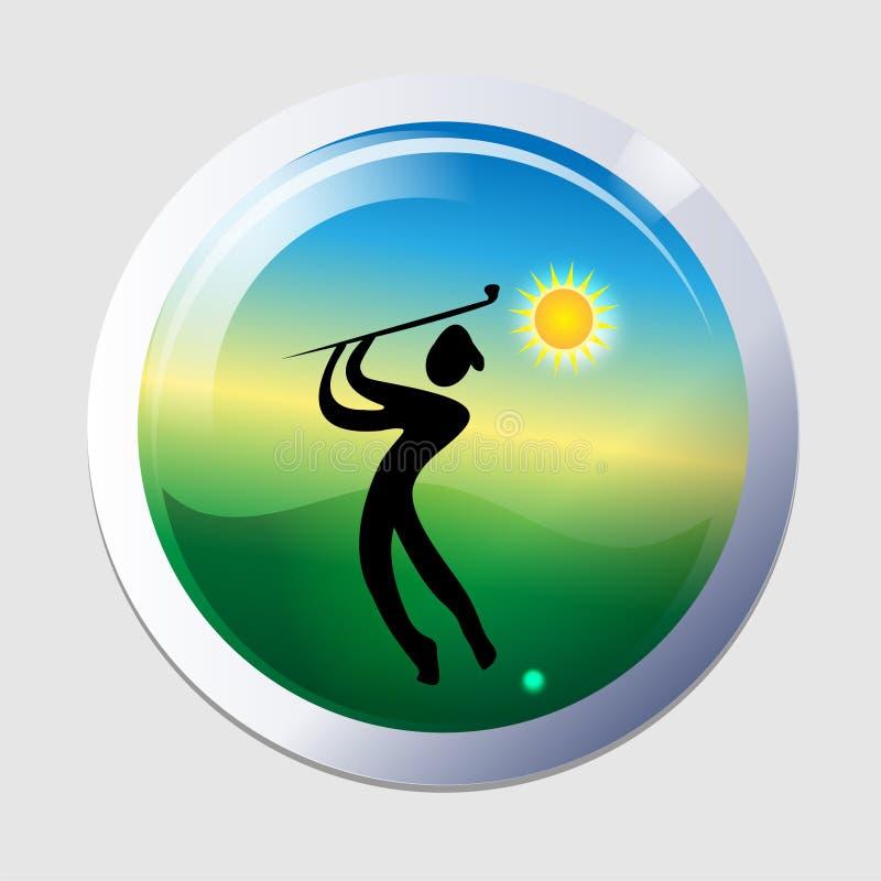 De mensenpictogram van de golfspeler royalty-vrije illustratie