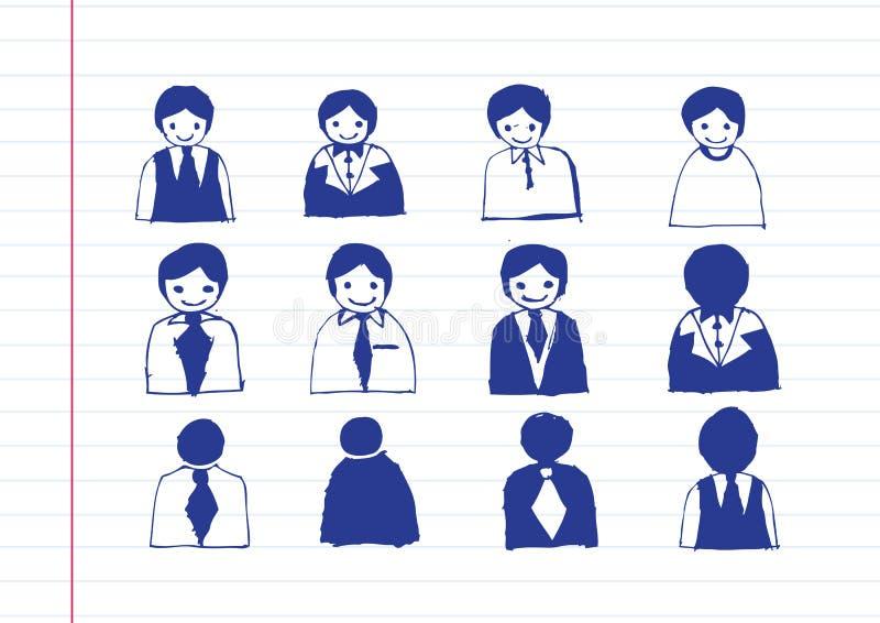 De Mensenpictogrammen van het bedrijfsmensenpictogram royalty-vrije illustratie