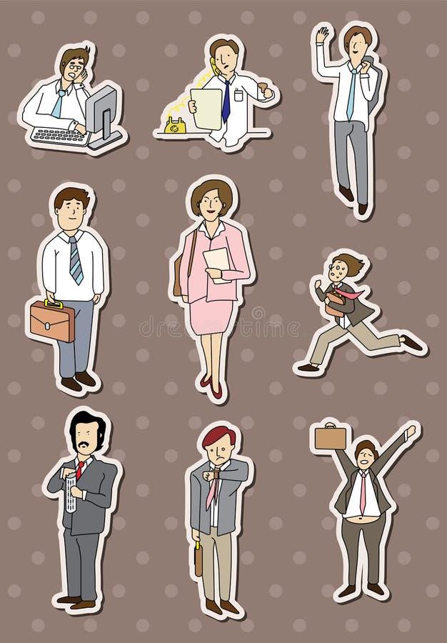 De mensenstickers van het bureau stock illustratie