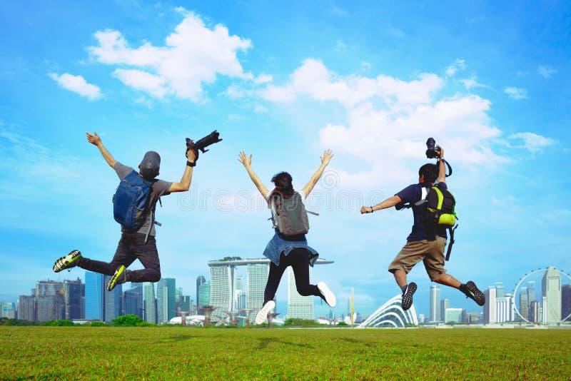 De mensenvrije tijd van de toerismereis stock afbeeldingen