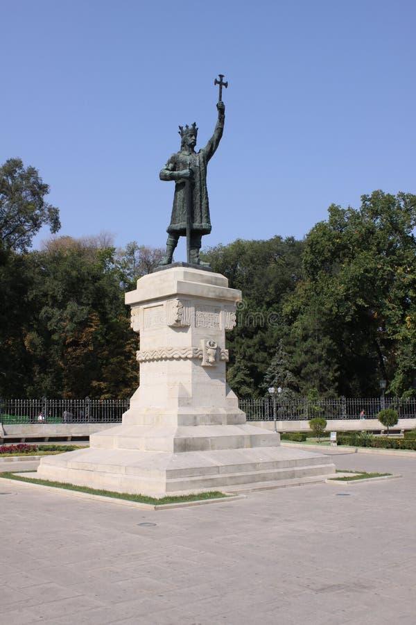 De Merrie van het Monumentenstefan cel van MOLDAVIË CHISINAu stock fotografie