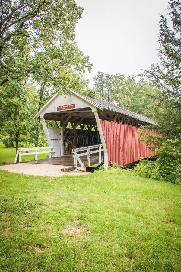 De messenmaker-Donahoe Behandelde Brug, Winterset, Madison County, Iowa stock foto's