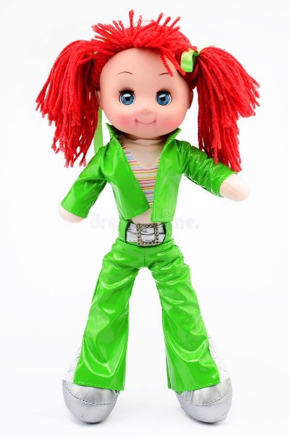 De met de hand gemaakte die pop van het hippievod op wit wordt geïsoleerd royalty-vrije stock foto