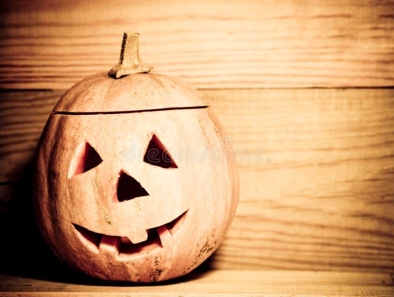 De met de hand gemaakte pompoen van Halloween stock fotografie