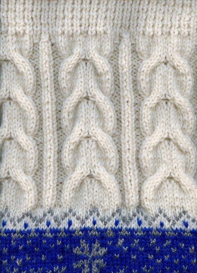 De met de hand gemaakte sweater van de de winterwol, fragment, close-up. royalty-vrije stock foto's