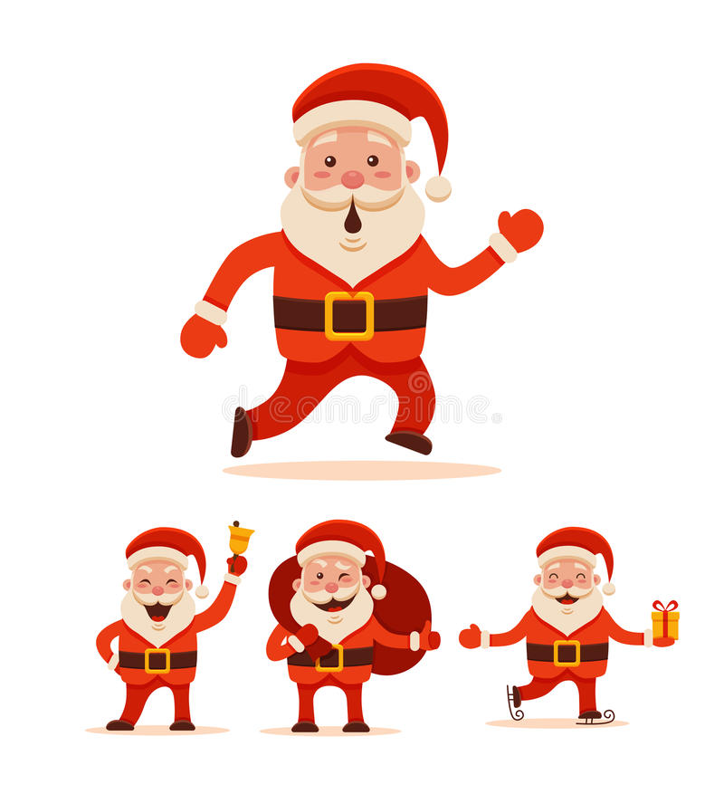 De met de hand geschilderde Kerstman vector illustratie