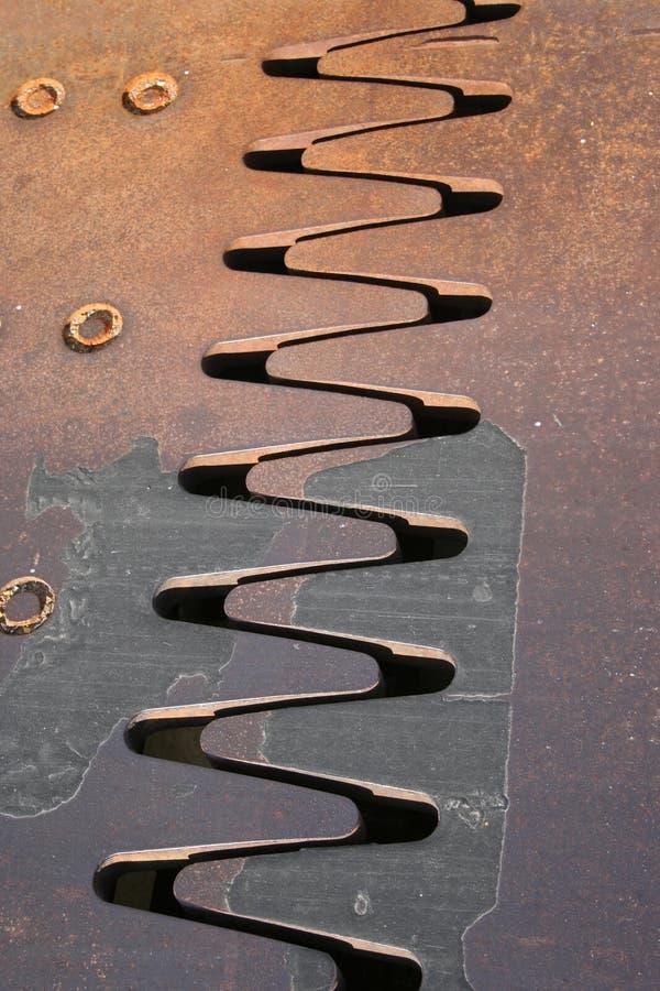 De met elkaar verbindende tanden van het metaal stock foto's