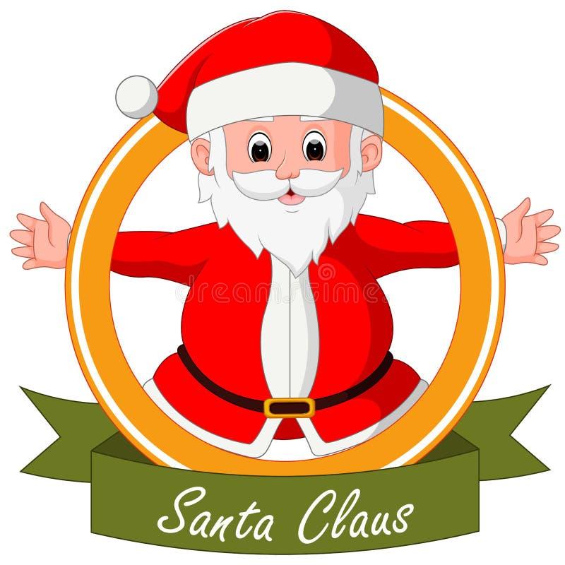 De met de hand geschilderde Kerstman royalty-vrije illustratie