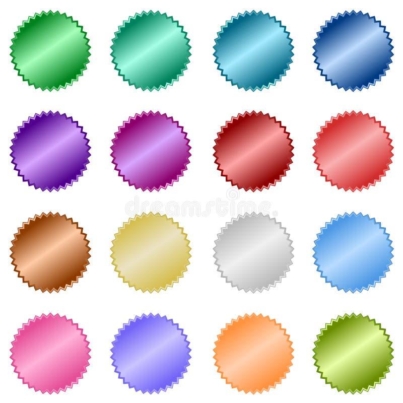 De metaal Gerichte Stickers van het Web stock illustratie