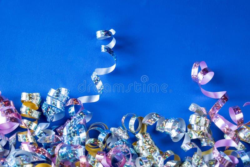 De metaalachtergrond van Partijwimpels - Blauw Schuim stock afbeelding