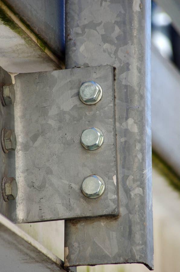 De metaalbouw structuur met bouten stock fotografie