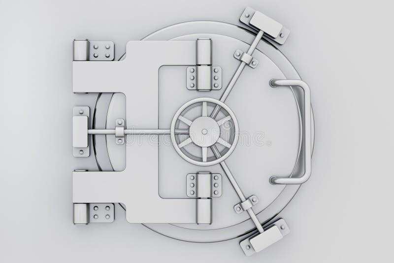 De metaaldeur van de bankkluis vector illustratie