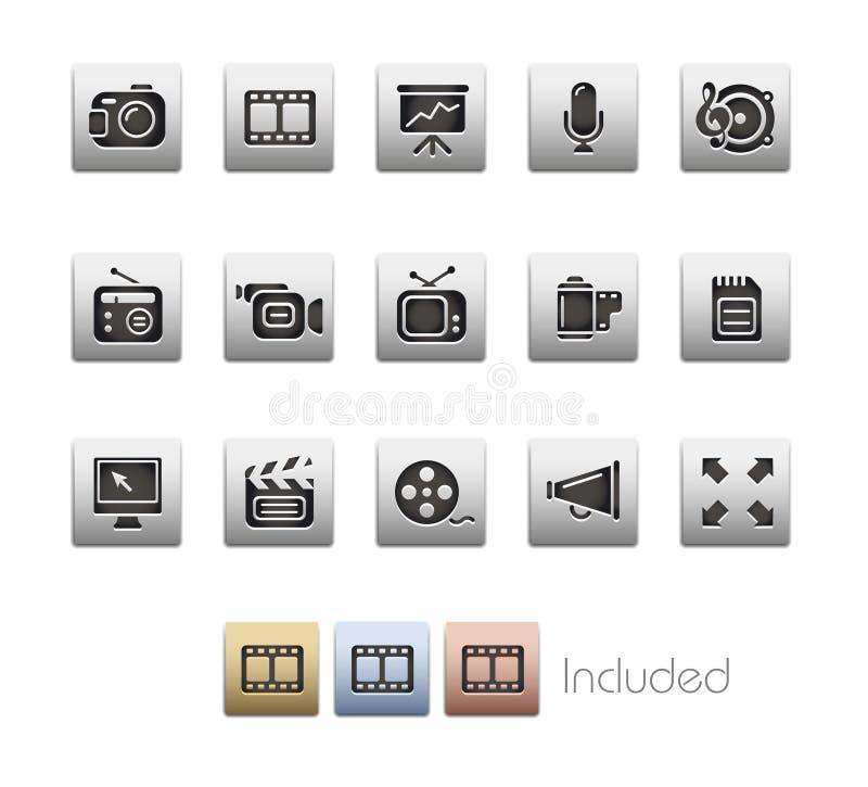 De MetaalReeks van verschillende media van // royalty-vrije illustratie