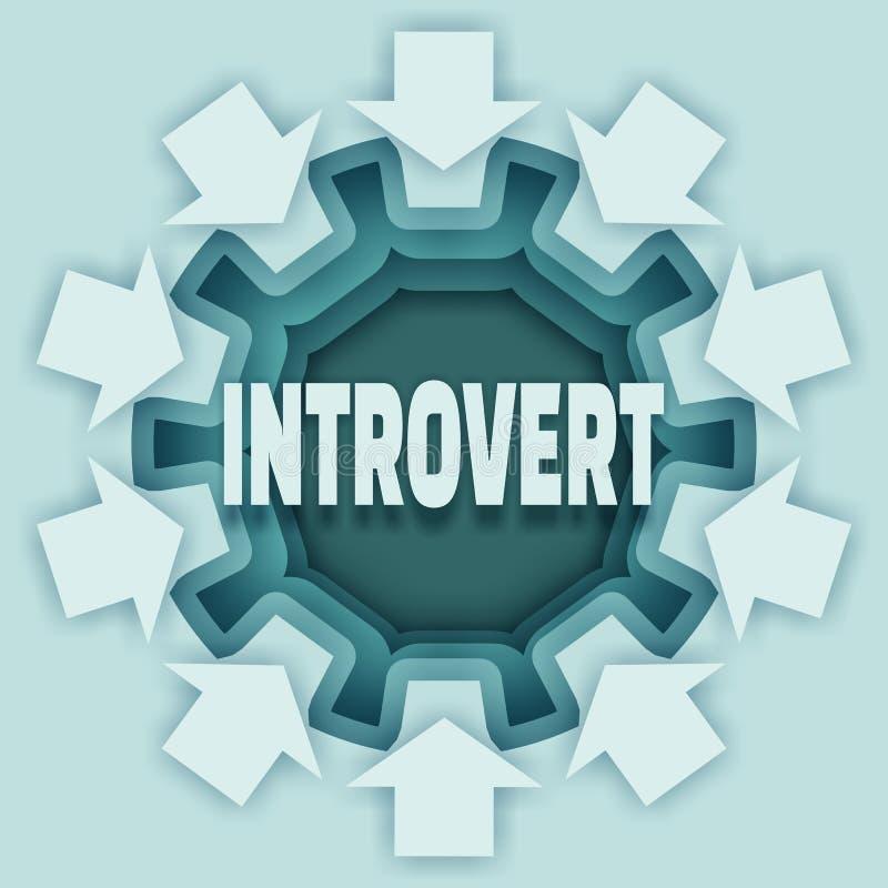 De metafoor van het introvertkarakter royalty-vrije illustratie