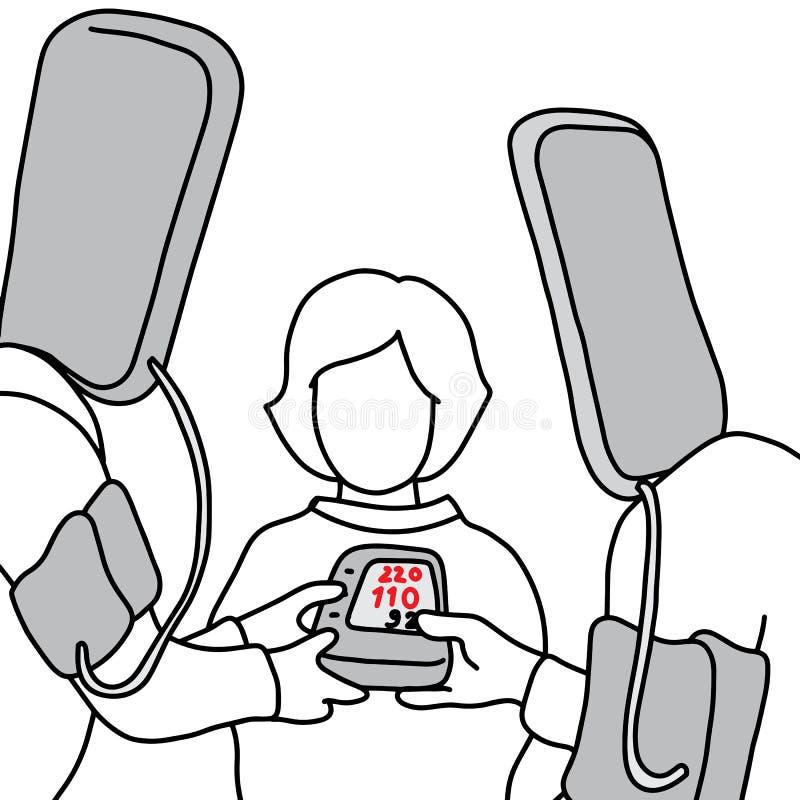 De metafooroorzaak van hoge bloeddruk of hypertensie is congeni royalty-vrije illustratie