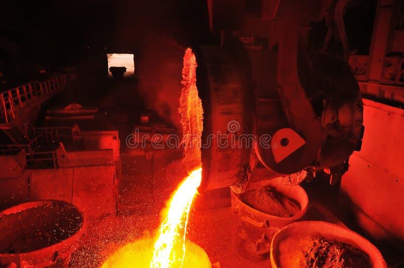 Download De Metallurgische Installatie Produceert Staal Stock Foto - Afbeelding bestaande uit ijzer, molen: 107700024