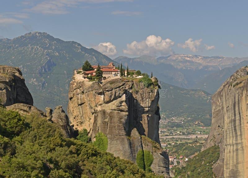 De Meteora-kloosters, Griekenland Kalambaka De Plaats van de Erfenis van de Wereld van Unesco royalty-vrije stock foto's