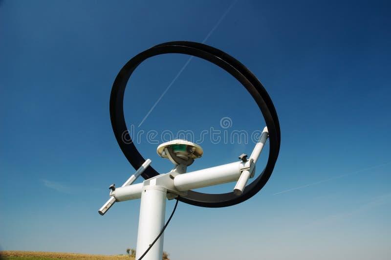 De meteorologische sensor van de zonstraling royalty-vrije stock foto's