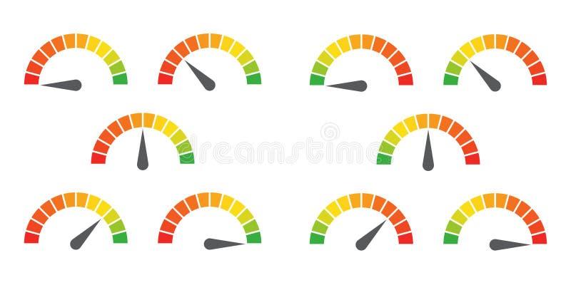 De meter ondertekent infographic maatelement royalty-vrije illustratie