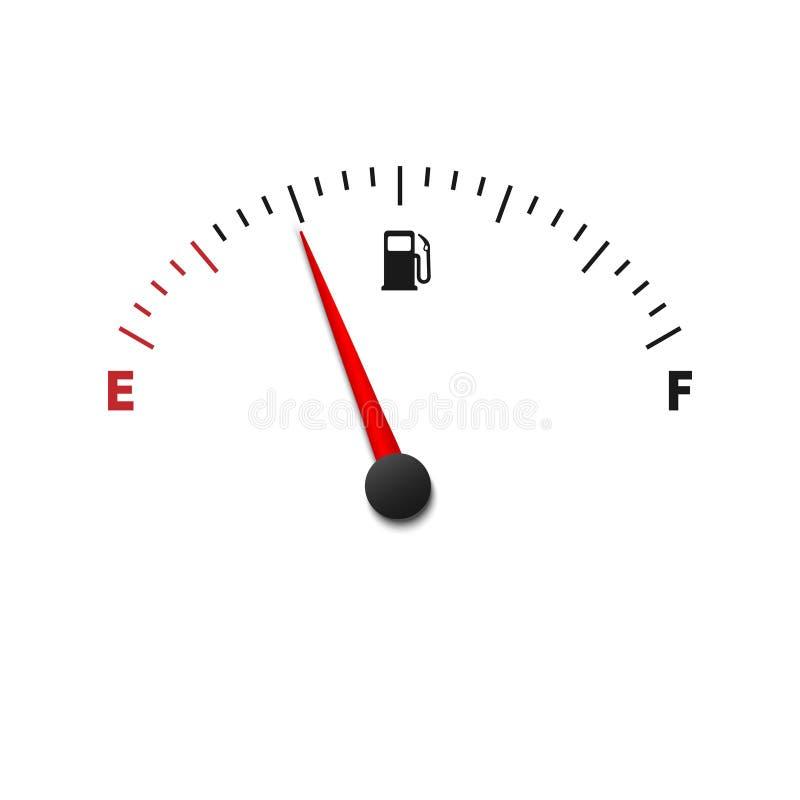de meter van de brandstofmaat vector illustratie