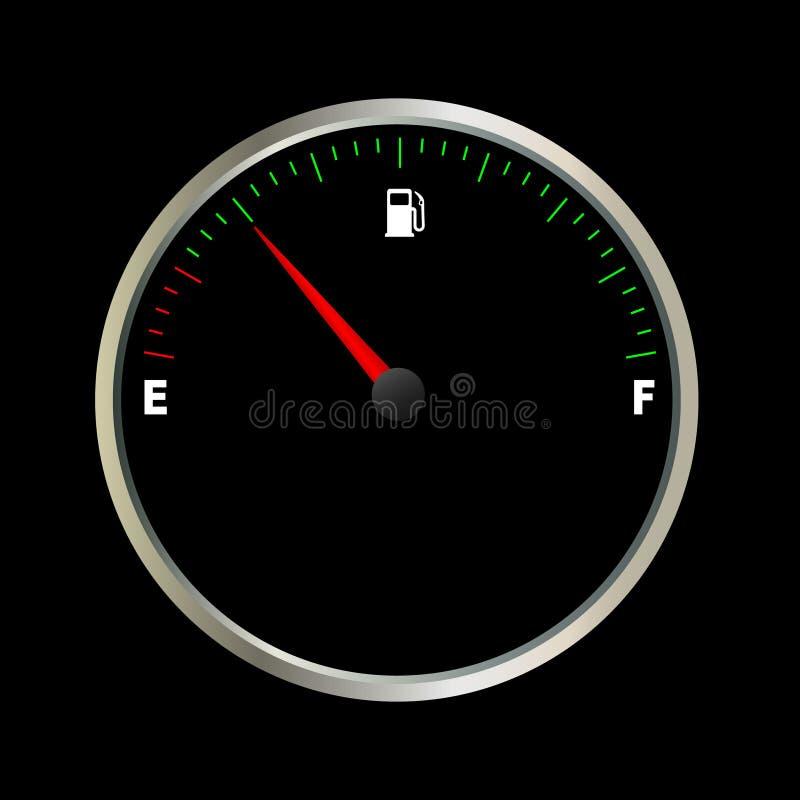 de meter van de brandstofmaat stock illustratie